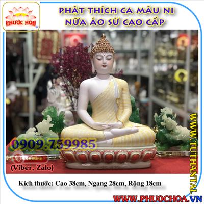 Phật Thích Ca Mâu Ni Áo Vàng