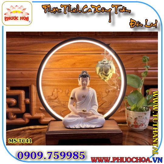 Tượng Phật Thích Ca Xông trầm đèn led