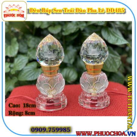 Đèn Búp Sen Trái Đào Pha Lê DD457